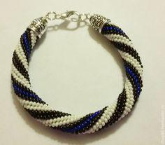 Купить браслеты из бисера радужные - комбинированный, жгут из бисера, жгут вязанный из бисера, жгут вязанный