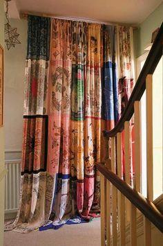 Vintage Scarf Curtains
