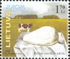 Stamps of Lithuania, 2005-09 - Quark (dairy product) - Wikipedia, the free…