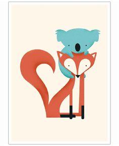 foxandKoala as Art Print by Jay Fleck   Art. Everywhere.