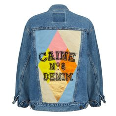 CAINE LONDON BESPOKE HAND PAINTED DENIM JACKET