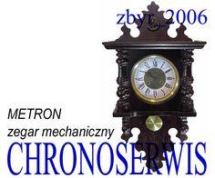 Zegar ścienny mechaniczny METRON drewniany wahadło