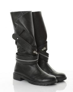 Bocanci piele neagra Biker, Wedges, Boots, Casual, Fashion, Crotch Boots, Moda, Fashion Styles, Shoe Boot