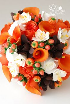 DK Designs: Fall Inspired Bouquet Order for a Halloween Wedding