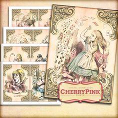 ALICE In WONDERLAND Set 5 Alice Decoration By CherryPinkPrints