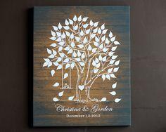 Wedding Guest Book Alternative Signature Wedding tree by LiWedding