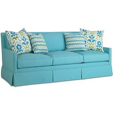 "Dana Gibson Lilla 84"" Sofa Turquoise Sofas & Loveseats ($3,599) ❤ liked on Polyvore featuring home, furniture, sofas, couch, decor, turquoise, turquoise couch, turquoise furniture and turquoise sofa"