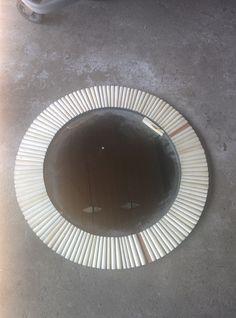 MIRROR, circular, removable mirror, ornate frame