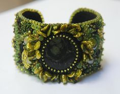 Bead Embroidery Cuff.