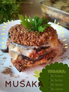 Cocina de Muerte Lenta: Musaka Vegana Veg Recipes, Spanakopita, Good Food, Healthy Eating, Chocolate, Cooking, Ethnic Recipes, Vegan Meals, Coffee