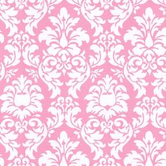 Candy Pink Damask Fabric by the Yard   Carousel Designs    For curtains and fabric decor