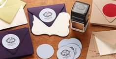 Customized stamps that include your buyer's name and new address are a perfect closing gift.  There are multiple creative and unique designs to choose from!