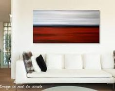 big horizontal canvas paint red - Google Search