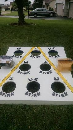 Diy Adult, Outdoor Games, Outdoor Fun, Outdoor Ideas, Drinking Games, Ping Pong Table, Oven, Wood Projects, Kitchen Appliances