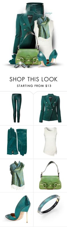 """""""Forever in Blue-Green"""" by rockreborn ❤ liked on Polyvore featuring Faith Connexion, Balmain, Lord & Taylor, Jane Norman, Gucci, Kurt Geiger, Alexis Bittar, Liz Palacios and polyvoreeditorial"""
