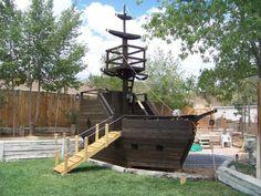 building plans for a pirate ship playhouse #playhousebuildingplans