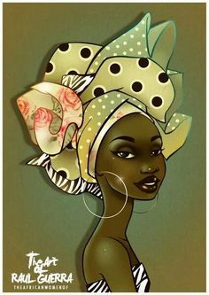 raul guerra -                                                                                                                                                                                 Más African Artwork, African Paintings, Black Women Art, Black Art, Fabric Painting, Painting & Drawing, Tableaux Vivants, Afrique Art, African Quilts