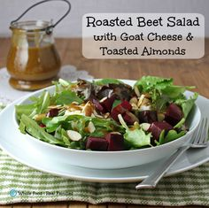 Roasted Strawberry Salad With Baked Goat Cheese Recipe — Dishmaps