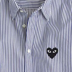 PLAY Comme des Garçons® button-down shirt in stripe : J.Crew in good company | J.Crew