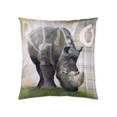 Obliečka na vankúš nosorožec 45x45cm    #vankuse#dremandfun#obyvacka#detskaizba#spalna Throw Pillows, Bed, Toss Pillows, Cushions, Stream Bed, Decorative Pillows, Beds, Decor Pillows, Scatter Cushions