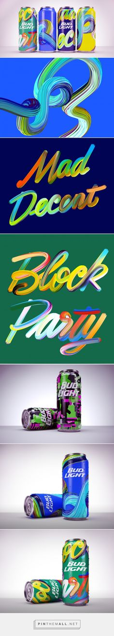Bud Light: Mad Decent Block Party — The Dieline - Branding & Packaging - created via http://pinthemall.net