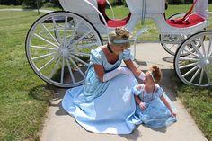 Cinderella and mini-princess from a Princess Pink Cinderella Birthday Party at Kara's Party Ideas. See more at karaspartyideas.com!