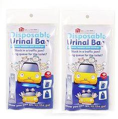Lot de 2paquets de 4jetables urinoir Sacs–Compact et portable urinoir pour hommes et femmes–UN discret Alternative aux bouteilles…