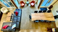 Overview of our home project for this amazing home. Located in the Cowichan Valley, come visit us to make your dream home project come true! Living Furniture, Home Decor Furniture, Furniture Design, Live Edge Wood, Live Edge Table, Custom Wood Furniture, Luxury Dining Tables, Modern Platform Bed, Modern Contemporary Homes