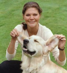 Princess Victoria with her dog. Funny.