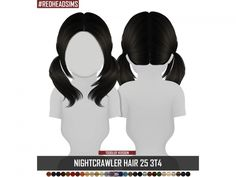 The Sims 4 NIGHTCRAWLER HAIR 25 3T4 TODDLER