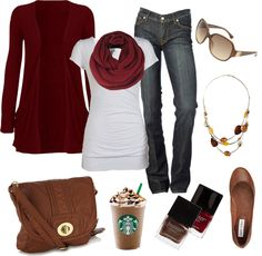Fall is in the air! - love that there is a Starbucks in the photo also! :)