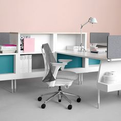 My dream home office.  Herman Miller office furniture