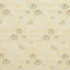 The K6402 SPRING upholstery fabric by KOVI Fabrics features Floral, Heirloom or Vintage, Paisley pattern and Coral or Orange or Persimmon, Gold or Yellow, Light Green, White or Off-White as its colors. It is a Brocade or Matelasse type of upholstery fabric and it is made of 100% Woven polyester material. It is rated Exceeds 50,000 Double Rubs (Heavy Duty) which makes this upholstery fabric ideal for residential, commercial and hospitality upholstery projects. For help Call 800-8603105.