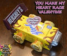 You Make My Heart Race Valentine ***I will make this for halloween Kinder Valentines, Valentine Day Boxes, Valentines Day Treats, Valentine Day Crafts, Holiday Treats, Holiday Fun, Valentines Ideas For School, Valentine Gifts For Kids, Valentine Party