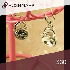 Michael Cors little padlock Crystal earrings Sterling silver plated with Crystal in the middle logo in the back with the new design hooks with logo brand-new without tags Jewelry Earrings