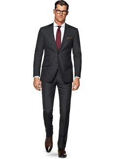 Suit Grey Stripe Sienna P4980i | Suitsupply Online Store