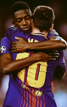 Ousmane Dembele looks pretty stoked to be playing next to a legend Leo Messi