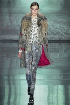 Nicole Miller - You can't get much cooler than this. Luv the splatter pants. #fw15 #nyfw