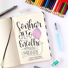Pin Em FRASES Meant To Be Quotes, Motivational Quotes For Working Out, Lettering Tutorial, Doodle Lettering, Brush Lettering, Positive Inspiration, Journal Inspiration, Go For It, Bullet Journal
