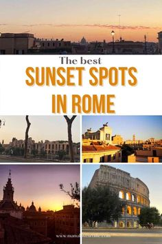 Guide to the best sunset spots in Rome by a local. Discover the best places to see the sunset in Rome, free sunset views in Rome and best Rome sunset terraces
