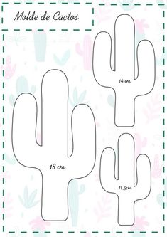 - Cris's wall photos Easy Felt DIY Sewing Project Template. Create your own Felt Toy. Cactus Craft, Cactus Decor, Diy Sewing Projects, Sewing Crafts, Felt Projects, Crafts To Make, Crafts For Kids, Summer Crafts, Felt Templates