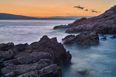 La tranquillità del tramonto sulle coste della Croazia
