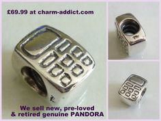 Genuine Pandora 79293 790293 Very Rare Retired Mobile Cell Phone Charm