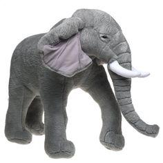 Giant Stuffed Elephant Toy | ... & Doug Deluxe Giant Standing Plush Elephant | Stuffed Animal Toys
