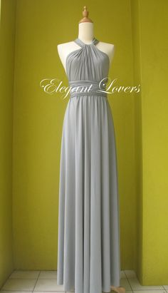 Grey Wedding Dress Bridesmaid Dress Infinity by Elegantlovers, $79.90
