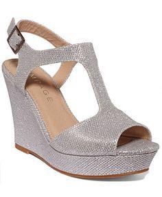 Rampage Candelas T-Strap Platform Wedge Sandals