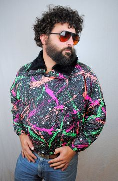 Rad 80s Vintage Neon Ski Puffy Rainbow Paint by RogueRetro on Etsy, $120.00 /// www.art-by-ken.com