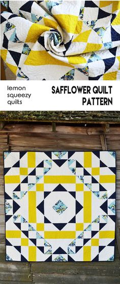 Safflower Quilt Pattern Now Available!