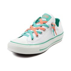 81d46fe9d4ba Shop for Converse All Star Lo Kriss N Kross Athletic Shoe in White Mint  Coral at