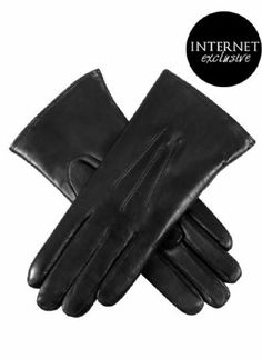 Dents fur-lined leather gloves